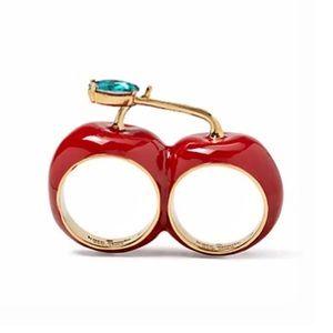 KATE SPADE • Ma Chèrie Double Cherry Ring